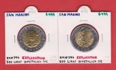 San Marino 500 Liras 1.999 Bimetálica KM#394
