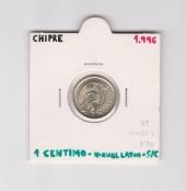 Chipre 1 Céntimo 1.996 Niquel Latón KM#53.3 SC