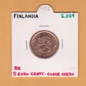 Finlandia 0,05€ 2.001 Cobre Acero SC
