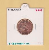 Finlandia 0,05 €uros 2.001 SC