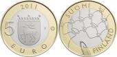 """Finlandia 5 Euros 2.011 Bimetálica """"Aland"""" SC"""