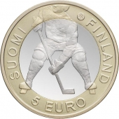 "Finlandia 5€ 2.012 Bimetálica ""Mundial de Hockey"" SC"