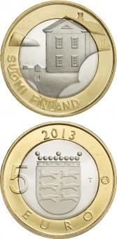 "Finlandia 5€ 2.013 Bimetálica ""Ostrobothnian"" SC"