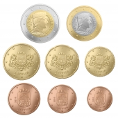 Letonia Tira/Set 8 Monedas Euro 2.014 SC