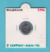 Nicaragua 5 Centavos 1.994 Acero KM#80 SC